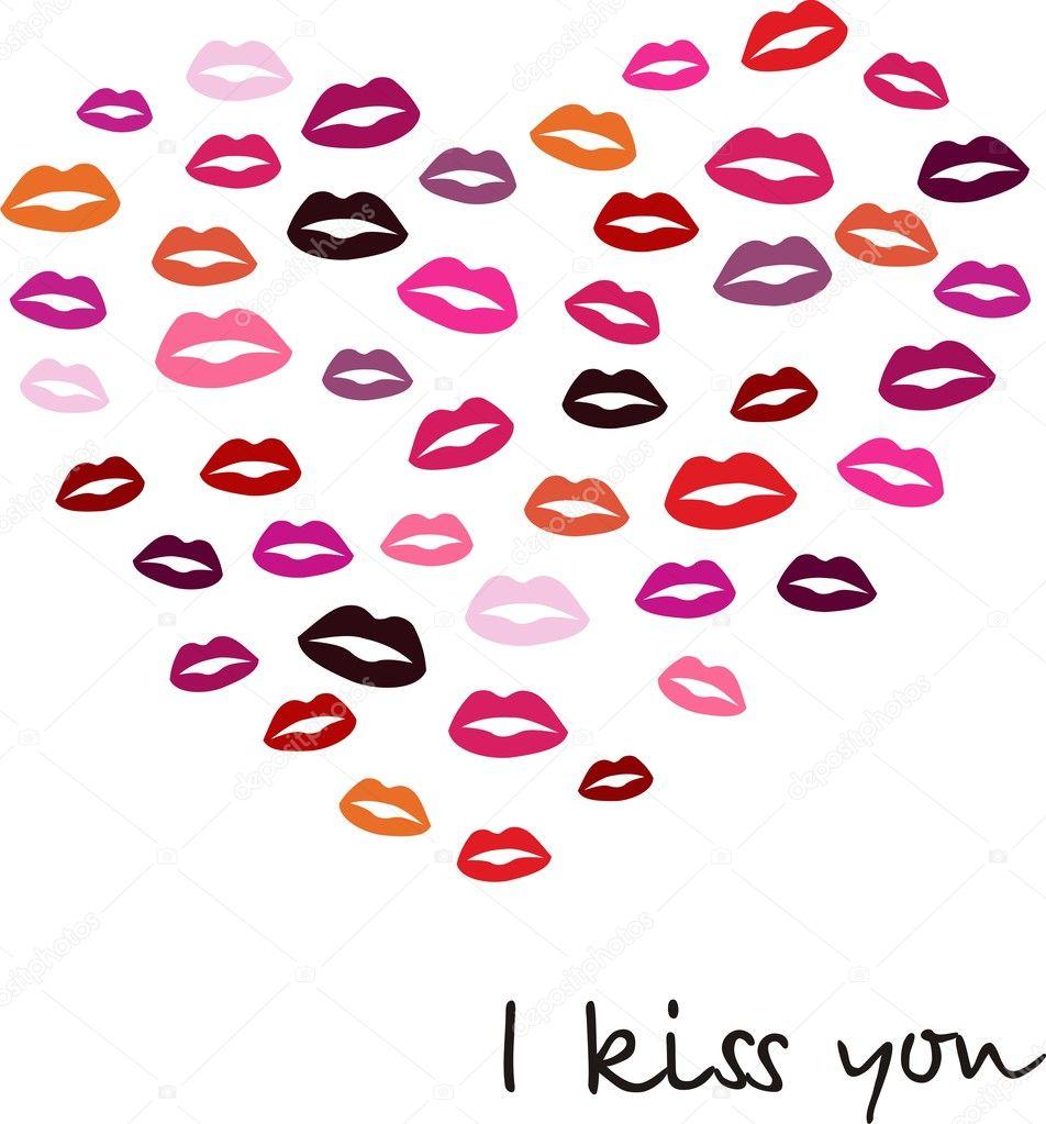 Открытка I kiss you