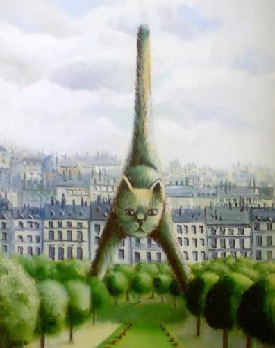Оригинальная открытка с кошкой