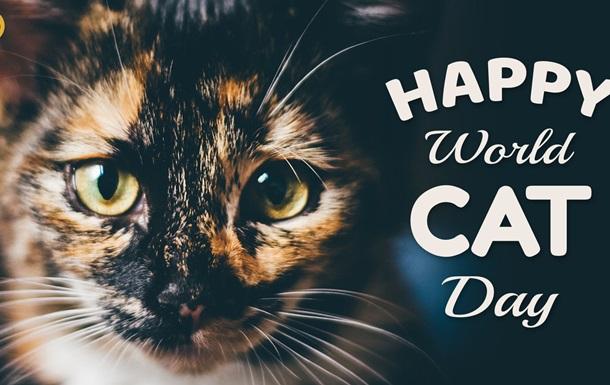 Открытка Happy World Cat Day