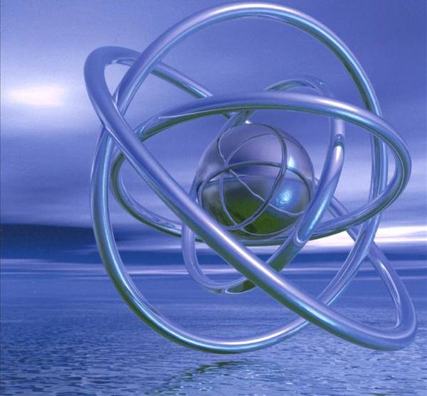 Открытка атом