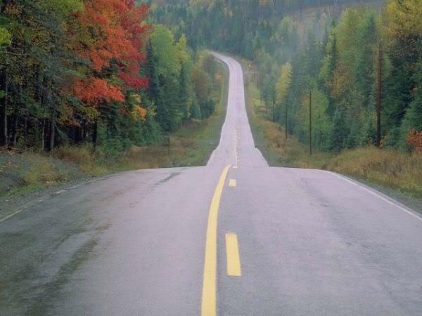 Открытка дорога