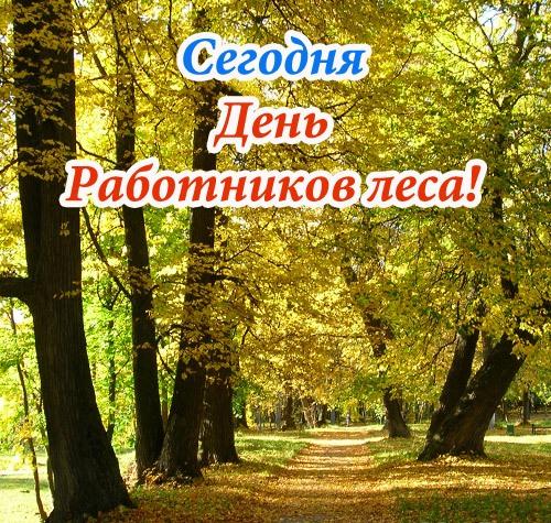 Открытка 15 сентября — день работников леса!