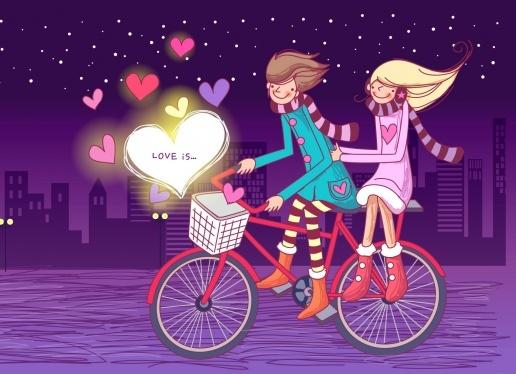 Трогательная открытка на день Святого Валентина