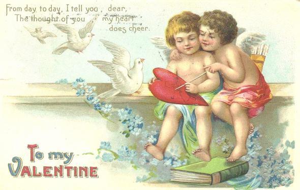 Английская открытка с днем Святого Валентина