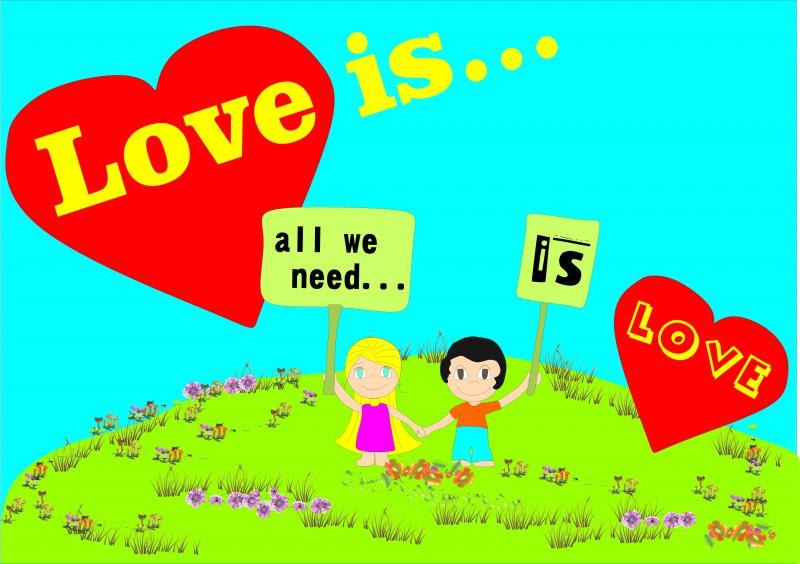 Открытка love is...