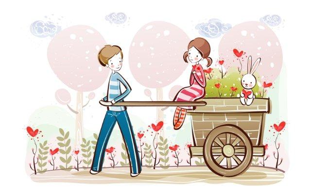 Нежная открытка ко дню всех влюблённых