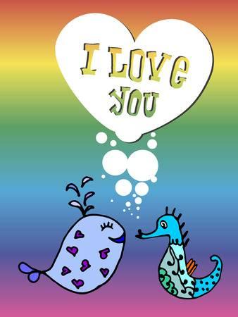 Открытка-признание I love you!