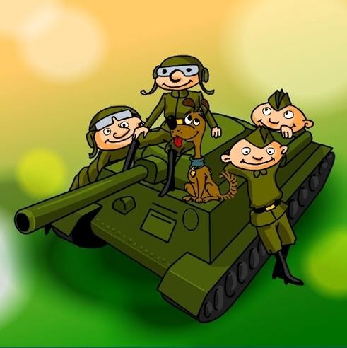 Открытка с днем рождения, танкист!