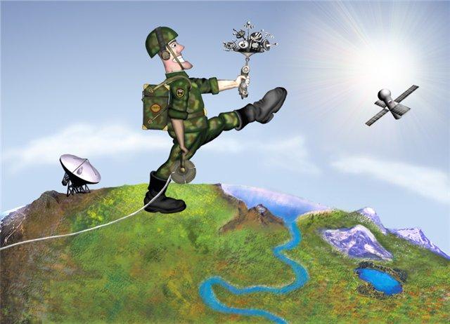 Открытка военный связист