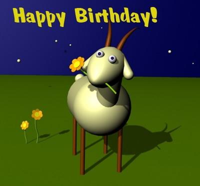 Открытка поздравляю с днем рождения, козерог!