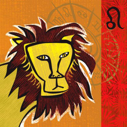 Открытка лев