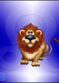 Открытка льву