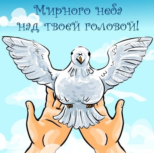 Открытка мирного неба над головой!