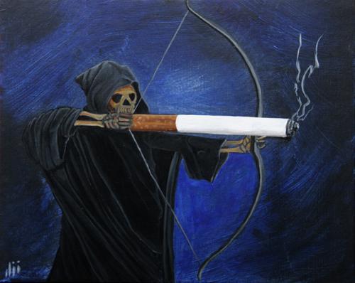 Открытка откажись от сигарет!