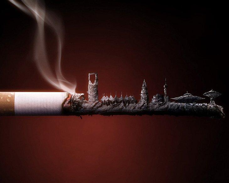 Открытка курение вредит здоровью