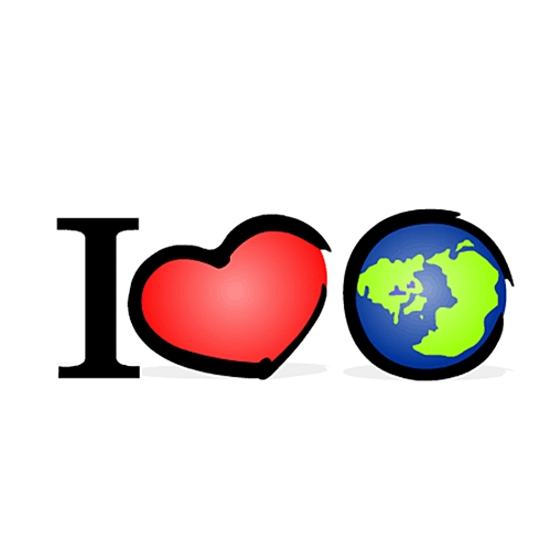 Открытка я люблю Землю