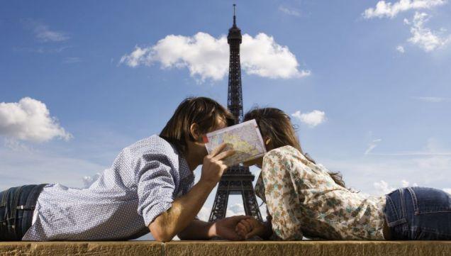 Открытка мы в Париже
