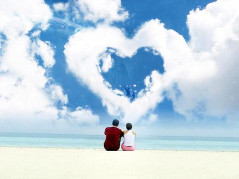 Открытка влюбленные на берегу
