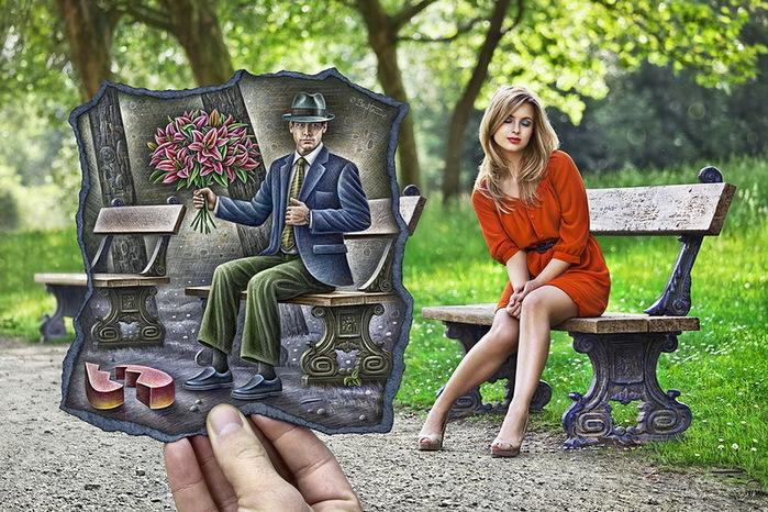 Романтичная открытка привет