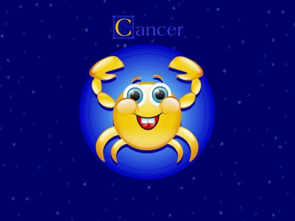 Весёлая открытка для рака