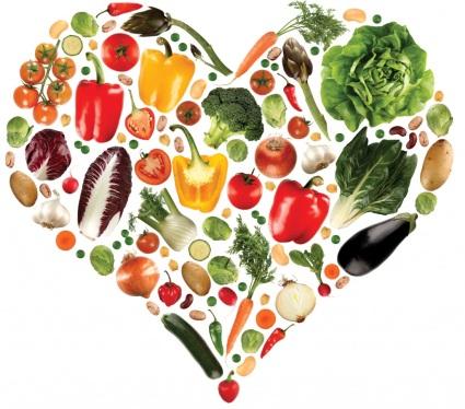Открытка полезная еда