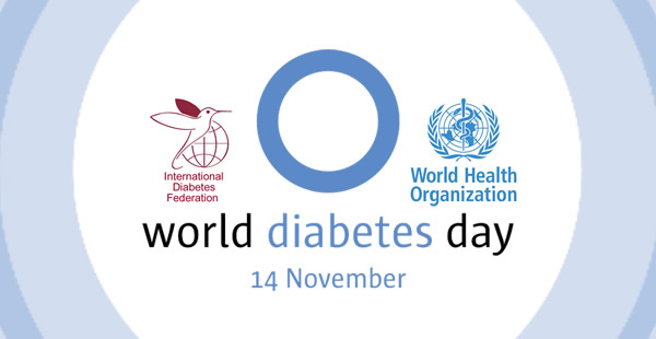 Открытка world diabetes day