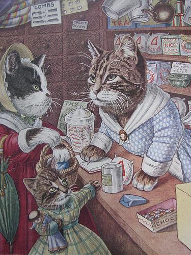 Открытка кошки