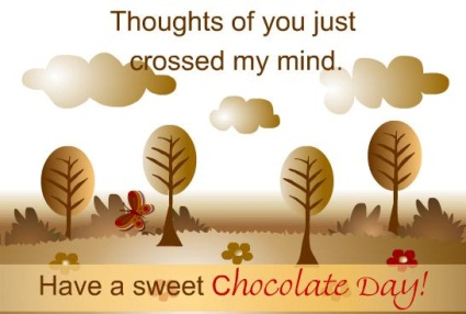 Открытка 11 июля — всемирный день шоколада