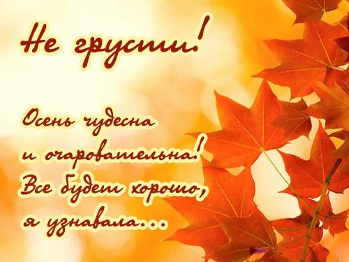 Осенняя открытка не грусти!